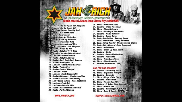 Sizzla Meets Luciano – Inna Classic Style 1991 – 2001 Mix CD by Jah Rich