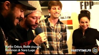 Yaniss Odua, Balik, Naâman, Sara Lugo & Francky – Official Video Live Studio – Freestyle at Party Time Radio Show – 16 Nov 2014